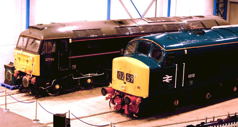 47798 and 45112 appear model like inside the NRM on 28th November.  Image supplied by Peter Kellett.