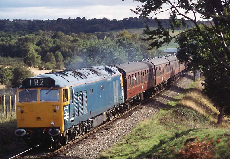 D444 taking part in the SVR diesel gala on 10th October 1998.  Image supplied by Peter Kellett.