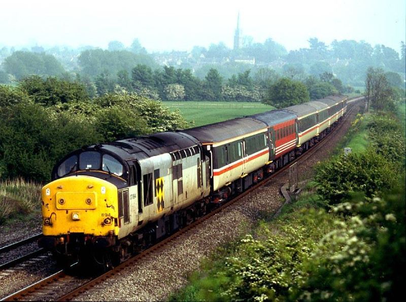 37894 on a Reading - Birmingham in May 1998 at Kings Sutton.  Image supplied by Peter Kellett.