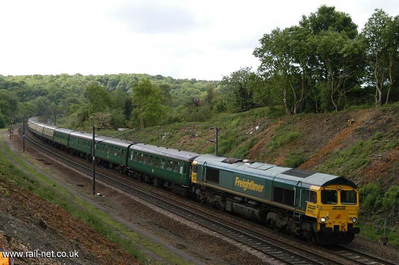 66561 with a Hertfordshire Rail tour north through Woolmer Green.  Image supplied by Marcus Dawson.