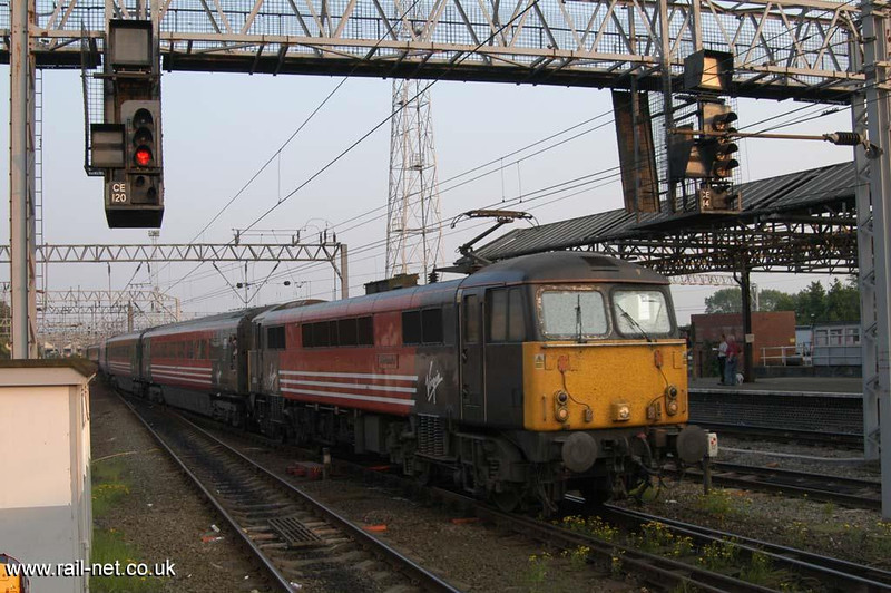 87004 trundels through Crewe on the Friday of the Open Day Weekend.  Image supplied by Marcus Dawson.