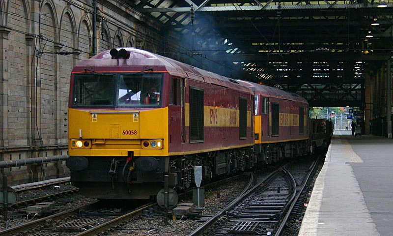 60058 with 60027 dit on 6E30 Dalzell - Lackenby steel empties heading through Waverley.  Image supplied by Ewan Tait