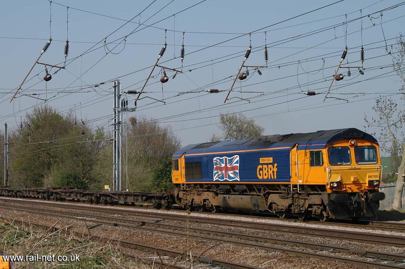 66705 passes Woolmer Green.  Image supplied by Marcus Dawson.