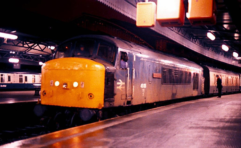 18 years ago. 45135 waits to be unhooked from the Newcastle- Bristol mail in Temple Meads station shortly after arrival.  A Scotrail BG van can be seen in the adjoing platforms. Modern nostalgia?  Image supplied by Peter Kellett.