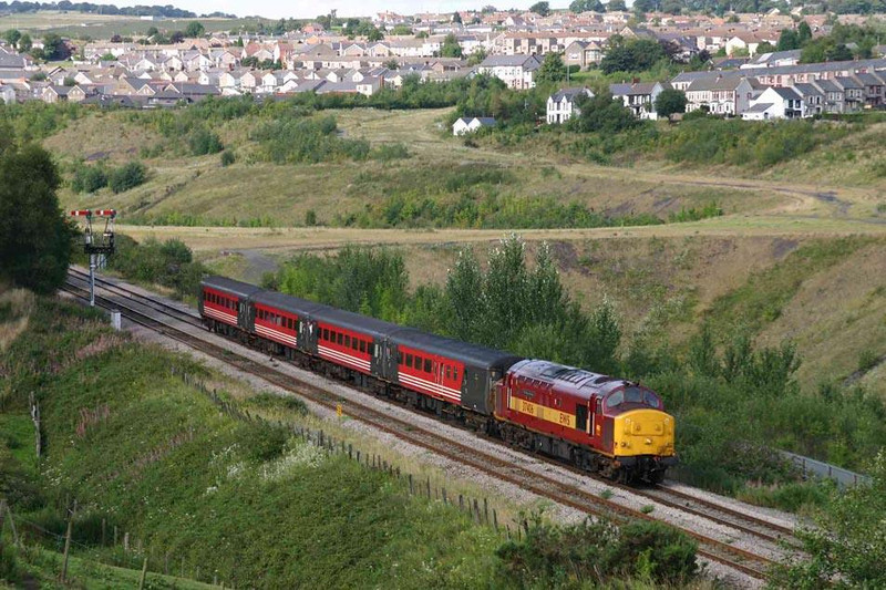 37406 heading south from Bargoed near Gilfach Fargoed station. Image supplied by Mark Bearton.