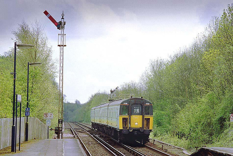Amberley Station, 1708 approaching from south, 27th April 2003. Image supplied by Chris Nevard