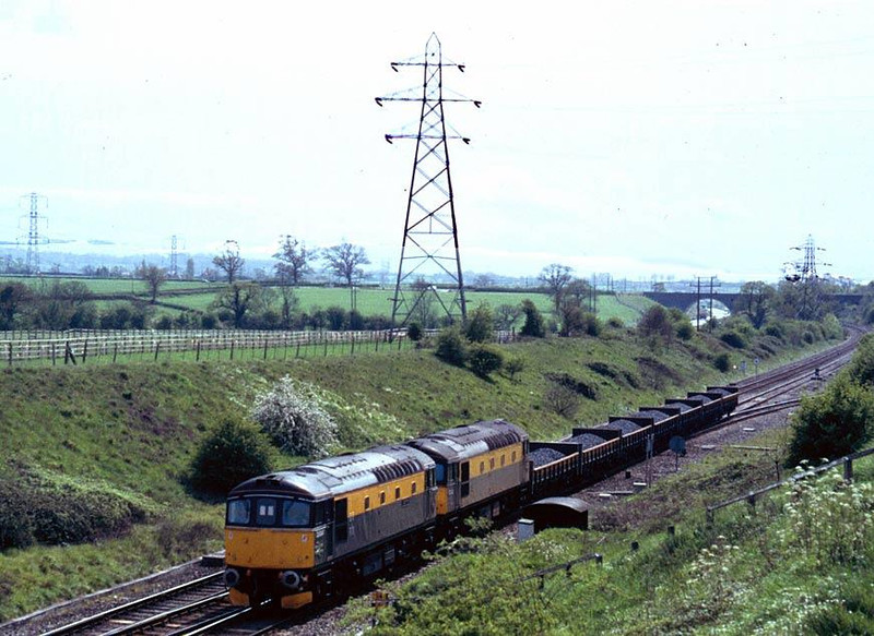 33047 and 33002 at Clink Road Junction Frome, 13th May 1991. Image supplied by Peter Kellett
