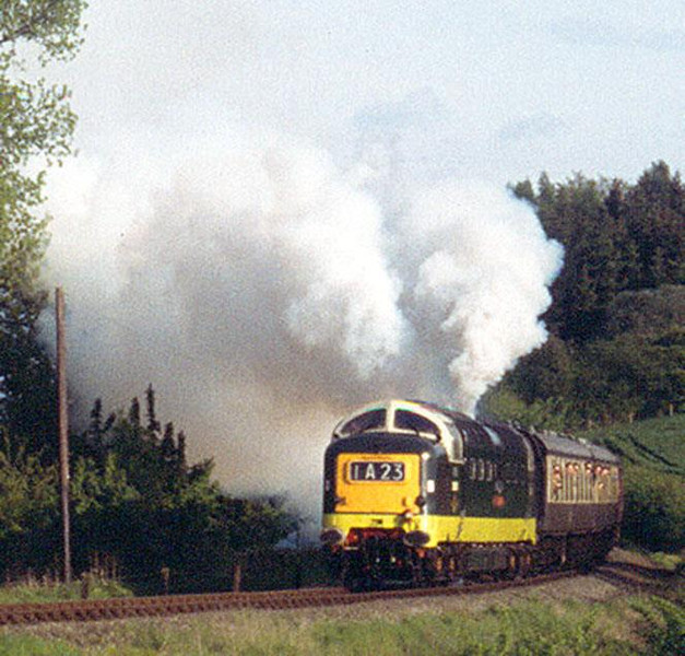 Deltic clag on the SVR, May 1992. Image supplied by Peter Kellett