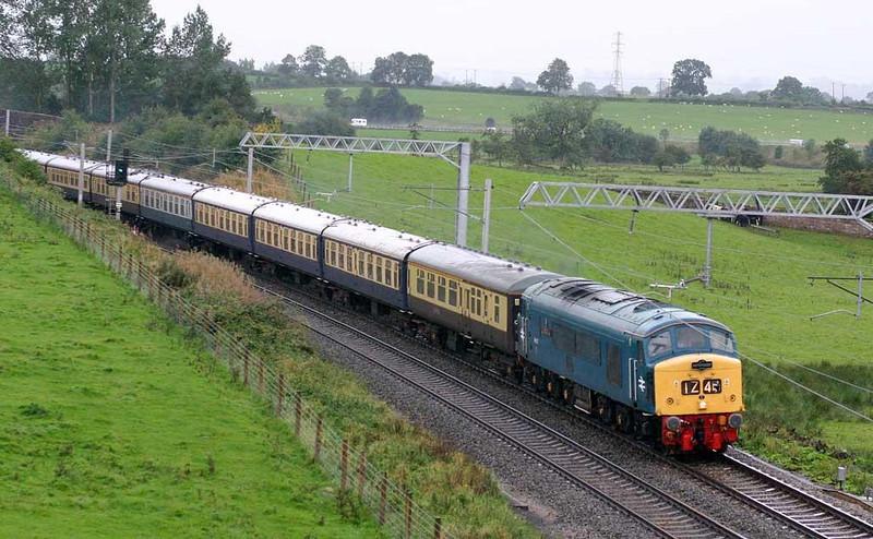 45112 working 1Z45 Newtown-Edinburgh at Kettleside Bridge, 18th September 2004. Image supplied by Peter Kellett