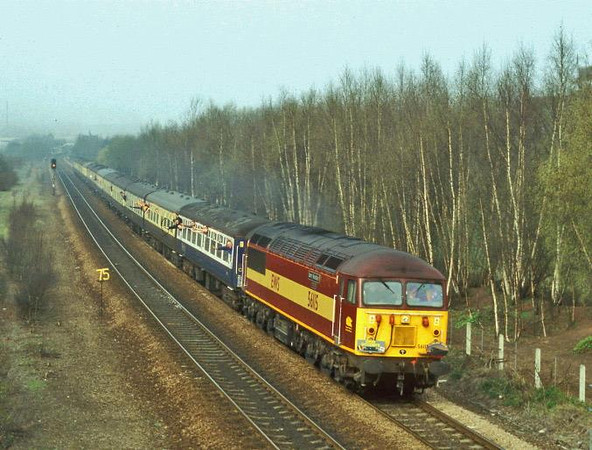 56115 on the farewell tour. Image supplied by Carl Beaumont.