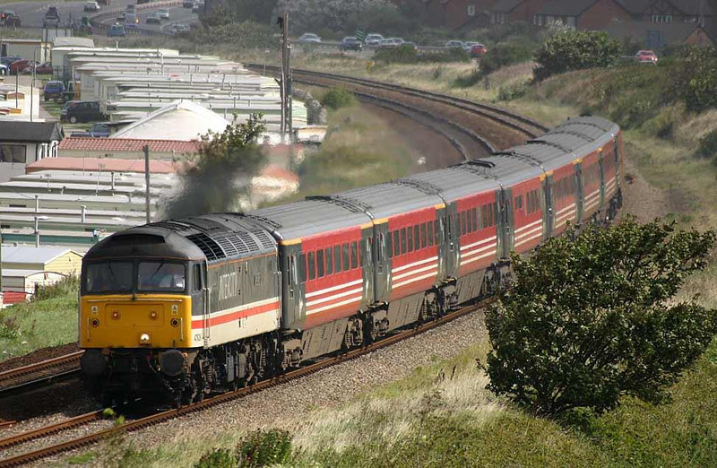 47826 Springburn on 1D87 to Holyhead near Abergele, 30th August 2004. Image supplied by Peter Kellett