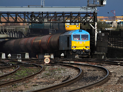 60074 climbs towards Cardiff Central with a train of empty TEA tanks on the 17th March 2012 - RIGalleries