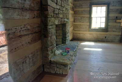 The Stone Fireplace in the Great Room