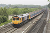 16/06/05: 66705 Golden Jubilee, 6V91, 10:40 Shorburyness - Newport Docks -Lower Basildon