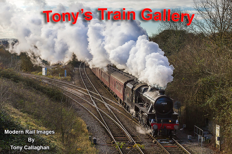 30th Nov 2017:  The Railway Touring Club tour to 'The Bath Christmas Market' was due to be hauled by  'The Union of South Africa' but regrtabl, this was now not available.  The stand in was LMS 4-6-0 45212 which I had never seen before.  The train is captured from the 'Shallow Wagon Lane'  bridge at Hawkeridge Junction.  The line turning to the left is the 1942 built curve that connectts to the Berks & Hants line.