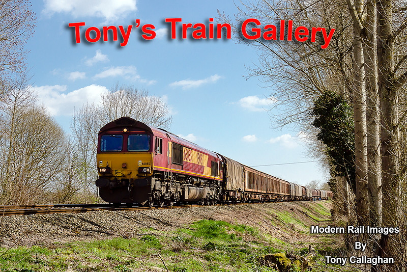 6th Apr 2015:  Runniig along the Wylye Valley near Sherrington is 66085 on 6V47 from Tilbury to Margam.  Diverted this way because of the closure of Reading trough lines