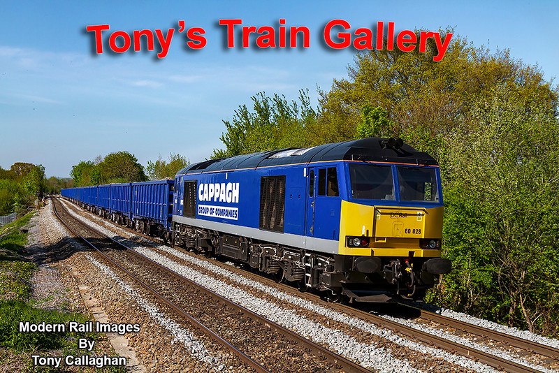 21st Apr 2020: At last I have a picture of 60028 in it's new parent company livery.  Operated by DC Rail is is powering 6Z91 from Westbury to Southampton Up Yard that used too be called Bevois Park.  It was working very hard and sounded great.   For me there and back  is almost a 3 mile treck so I shall not be going that again ina hurry.