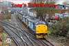 Easing over South Acton Junction are 37510 & 37688 taking scrap steel empties from Sheerness to Stockton