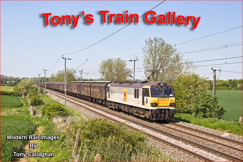 22nd May 12:  Making a fine sight at Long Buckby is 92003 at the helm of 6A42 the 14.42 from Daventry to Willesden