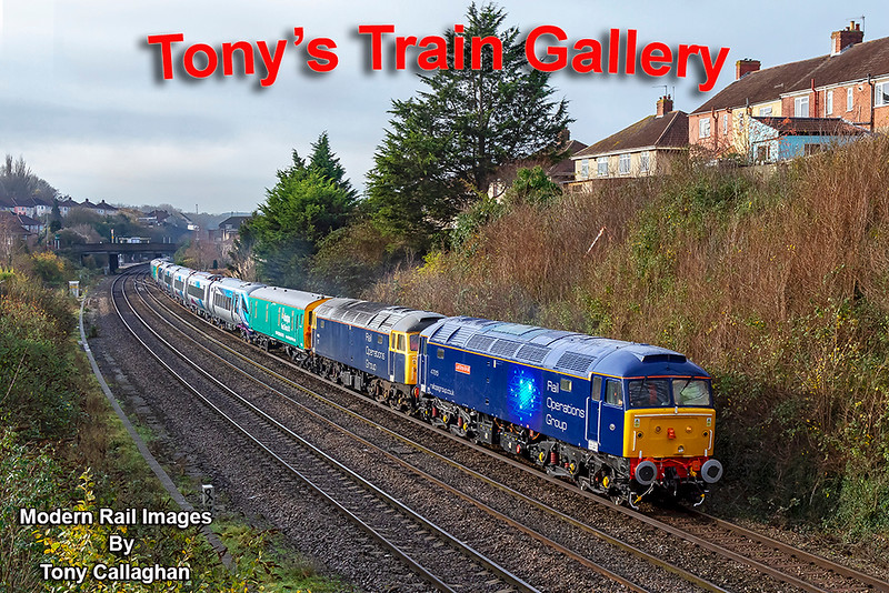 4th Dec 2018: 47815 Lost Boys '1966-1988' & 47812 are leaving Parson Street with 5Q32 which is moving a new CAV built EMU for TransPenine Express 397003.  It ame from Spain by ship to Bristol's Portbury Dock and is being taken to Crewe