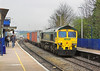 22nd Apr 06:  66534, 4O14 Garston to Southampton entering the West Station from Reading General and the GW Main Line