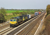 22nd Apr 06:  66569 hauls 57006 and the Lawley Street to Southampton Liner