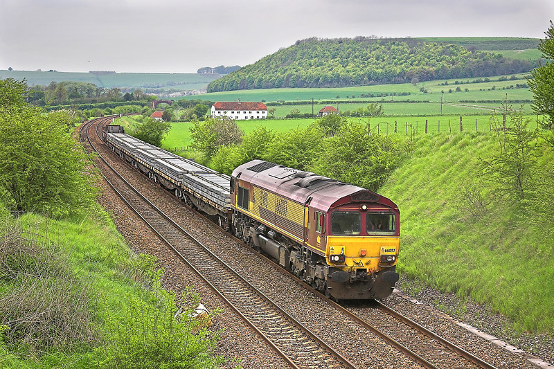 6th May  06:  66097 with the Hinksey to Eastleigh Engineers working
