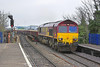 22nd Apr 06:  66162 rumbles over the Oxford Road bridge  hauling loaded MHAs from Hinksey to Eastleigh