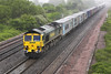 "28th May 06:  66536, 4O54 from Leeds to Southampton.  The driver tooted a chorus of ""The Blayden Races"" !!"