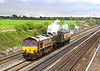 1st May 006:  66099 & 60009 Union of South Africa potter along the Relief heading for Kidderminster from Stewarts Lane