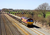 8th Apr 06: 66056 potters up the Relief with loaded HTA's