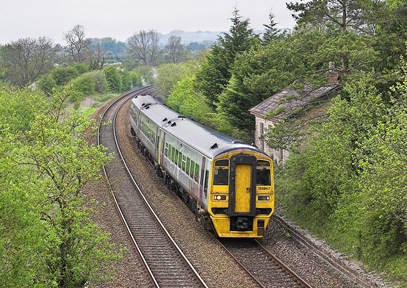 6th May  06:  158967 Passes the remains of Heytsbury Staion