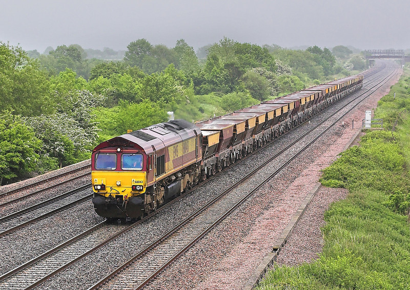 28th May 06:  60043, 6C23 Hayes to East Usk empty Hoppers