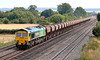 8th Aug 06:  Shanks liveried 66522 on 6B11 Tuesdays only Thorney Mill to Pengam