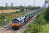8th Aug 06:  On hire to Freightliner 66407 approaches Steventon with the Calvert to Bath & Bristol empty Bin Liner