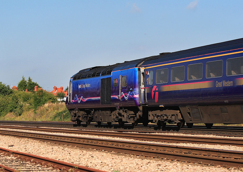 29th Aug 06:  The evening light catches the new livery of 43004
