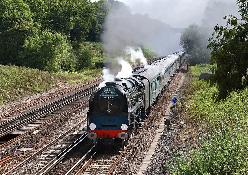 29th Aug 06:  71000 Duke of Gloucester southbound at Totters Lane