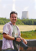 8th Aug 06:  Mr Nevard trying a cooling tower for size