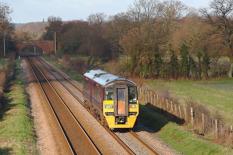 9th Dec 06:  158778 trundles south through Lee on it's way to Portsmouth Harbour