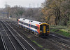 12th Dec 06:  159006  nears Weybridge with a Salisbury to Waterloo service