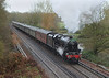 12th Dec 06:  45231 climbs accelerates away from Virginia Water as it runs from Waterloo to Salisbury with a Carol Concert charter.