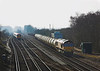 26th Mar 06:  66152 passes a Wessex  with 6M44, 12.30 Eastleigh Yard - Wembley