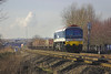 10th Feb 06:  59103, 6A17, 10.55 Merehead - Acton leaving Theale with loaded 'Mendip Pool' wagons