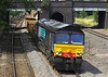 4th Jul 06:  66407 on hire to Freightliner heads 6P27  Crewe to Std Farm empties