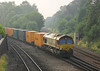 4th Jul 06:  Just after 7 am and 66209  brings the  Wakefield Europort to Southampton across the junction with the Nuneaton Line