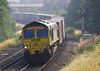 4th Jul 06:  66542 rounds the long curve into the station with 4O54 Leeds to Southampton