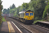 26th Jul 06:  66572 passes a leafy Appleford with 4M55 to Ditton