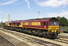 17th Jul 06:  66092 & 66166 in the stabling siding at the station