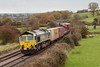 25th Nov 06:  66537 has just passed the site of Lavington Station