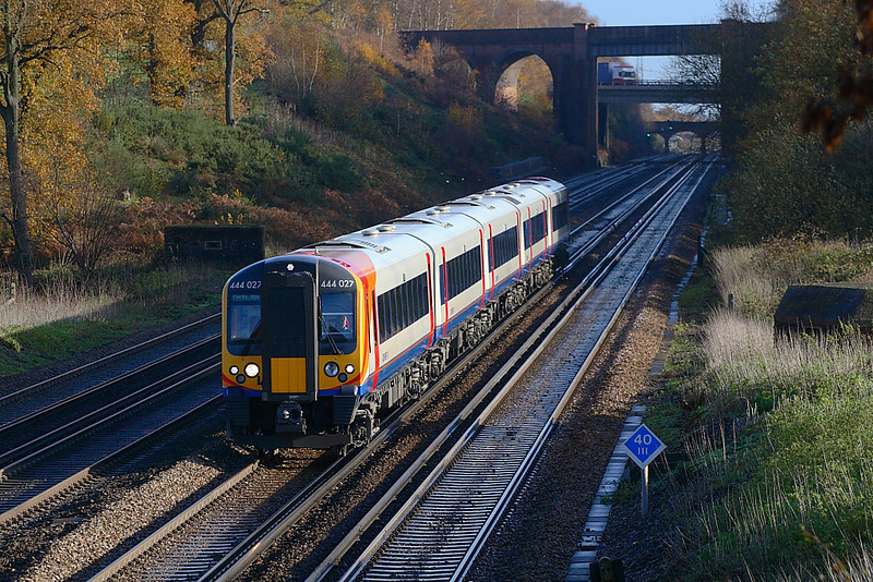 29th Nov 06:  444027 heads south for Portsmouth Harbour